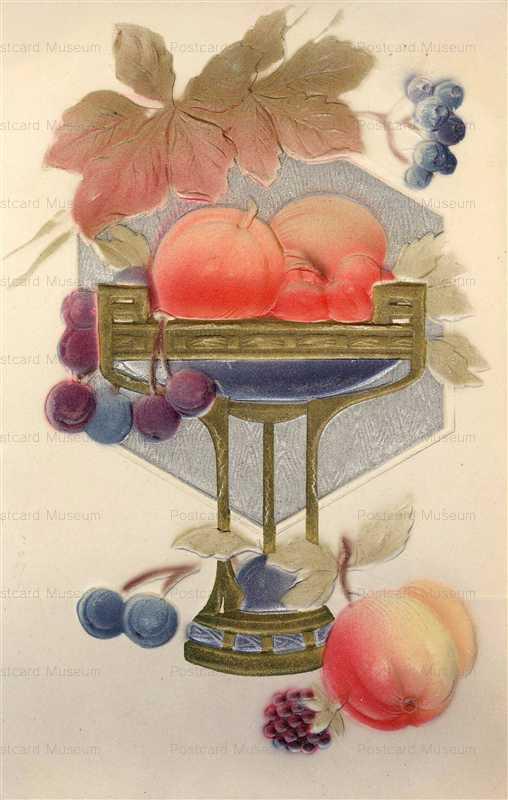 em834-Fruit Embossed