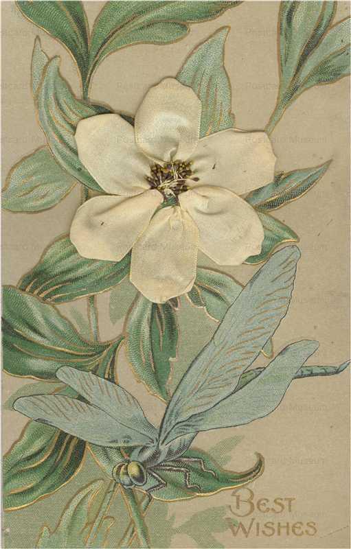 em840-Dragonfly Add On Silk Flower