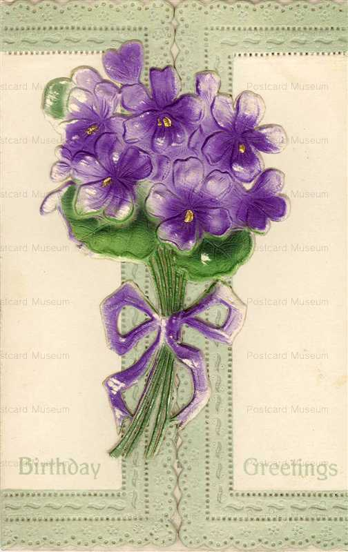 em841-Birthday Violets Emboss
