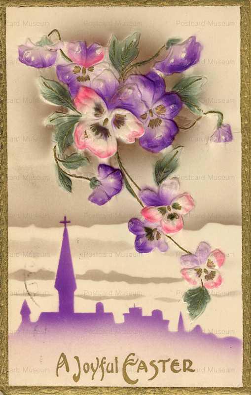 em843-Easter Violet Emboss
