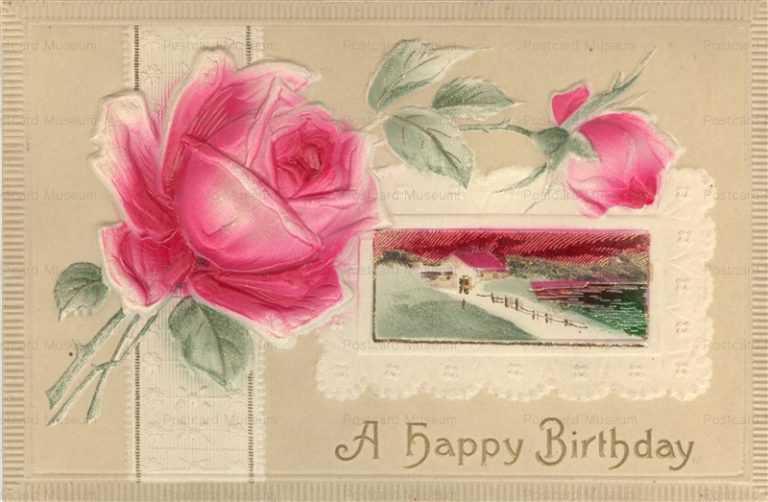em850-Birthday Flower Emboss