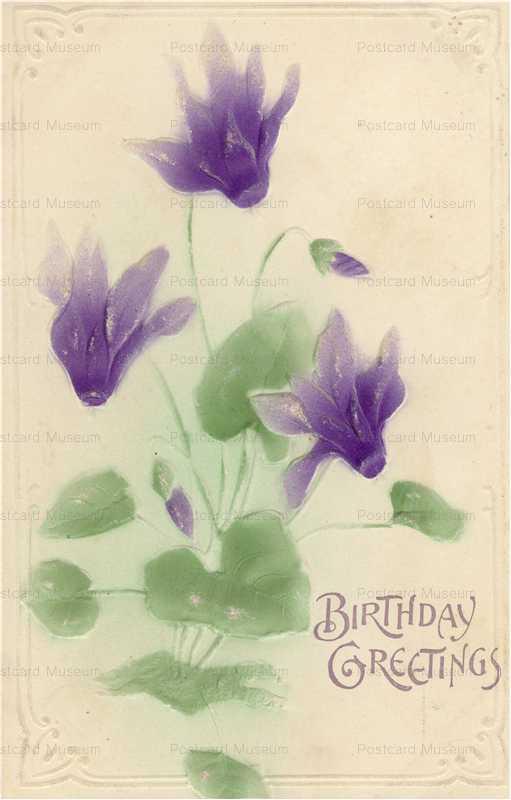 em851-Birthday Cyclamen Emboss