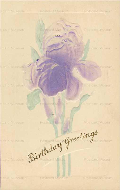 em852-Birthday Iris Emboss