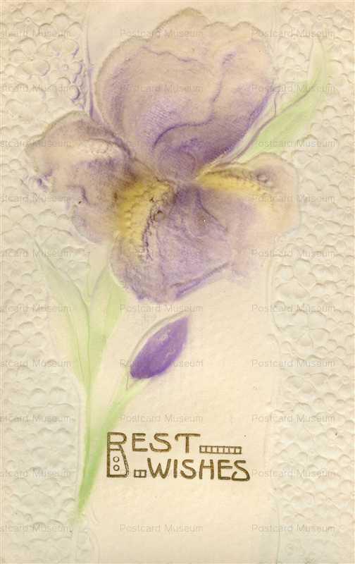 em855-Best Wishes Iris Emboss