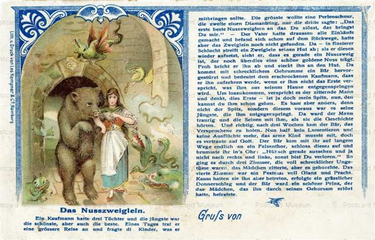 ex450-Nouveau Germany Litho Cromo Postcard the Beauty and the Beast