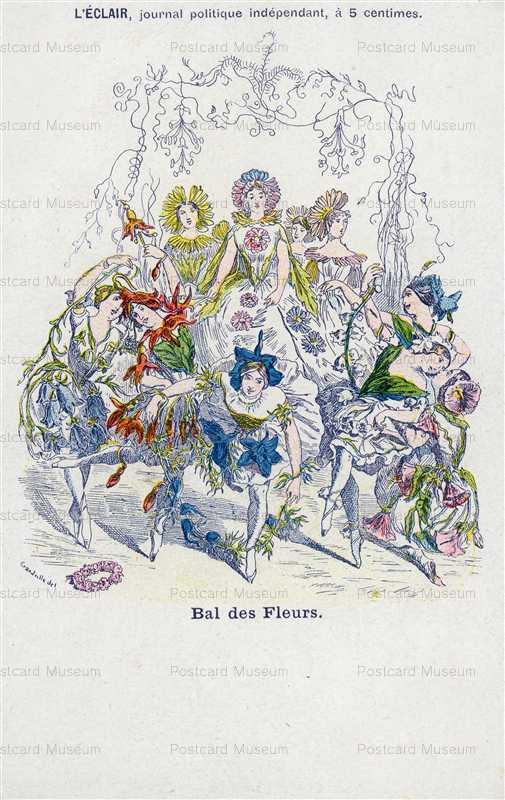 ex550-Grandville Dancing Flower Art Nouveau Bal des Fleurs