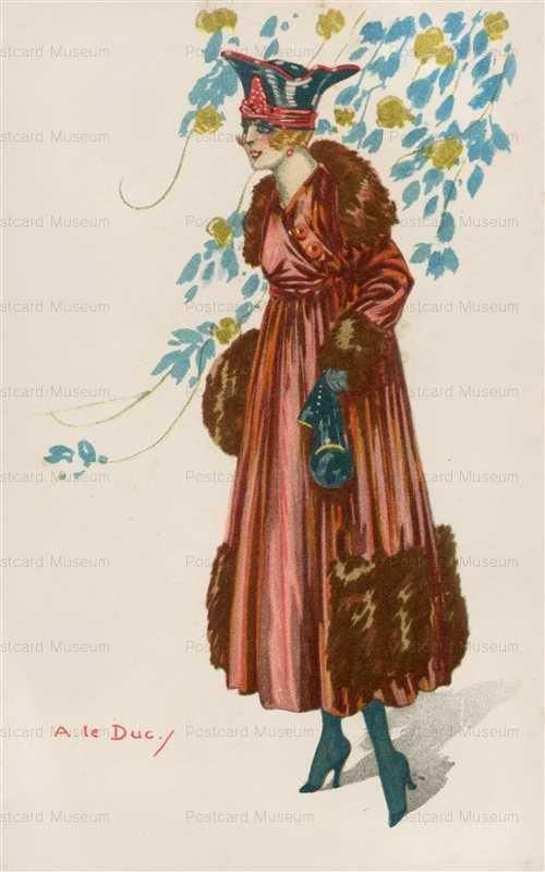 fa440-A Le Ducy Brown Dress Lady