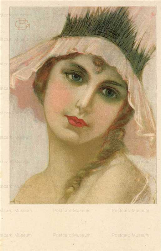fa507-GB Girl in Pink Hat