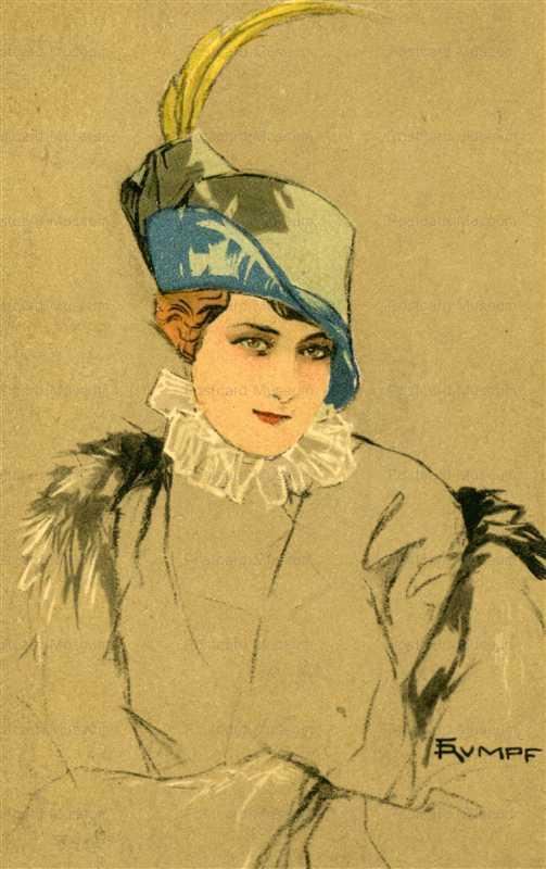 fa520-Rumpf Secession Feather Hat Women