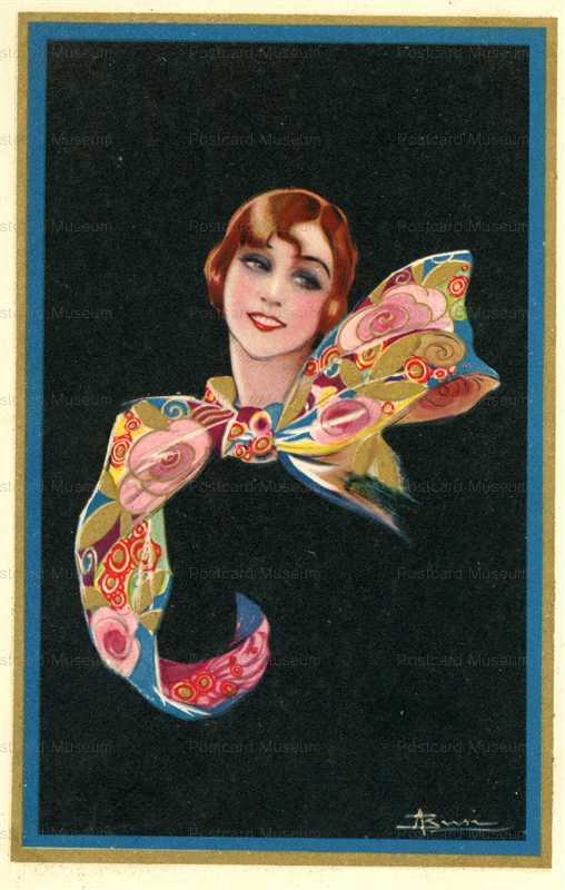 fa550-Lady with Burly Ribbon