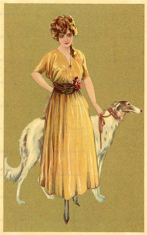 fa610-Woman with Borzoi Dog