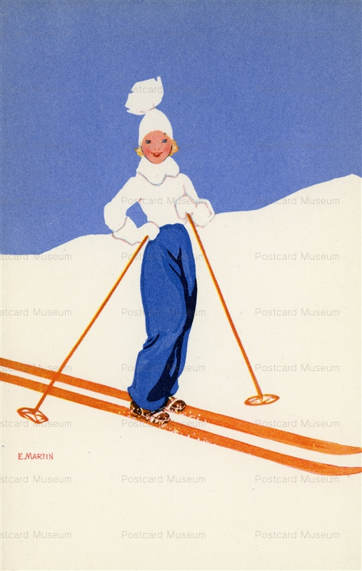 fa660-E.MARTIN Snow Skiing Switzerland No609