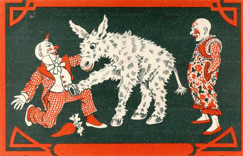 fc012-Circus Clown Donkey