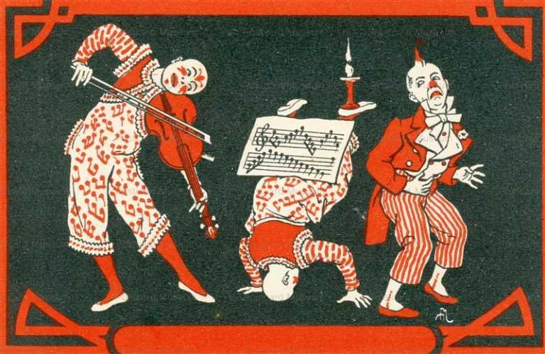 fc014-Circus Clown Musician