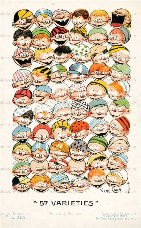 fc220-Artist Gene Carr Comic 57 Varieties