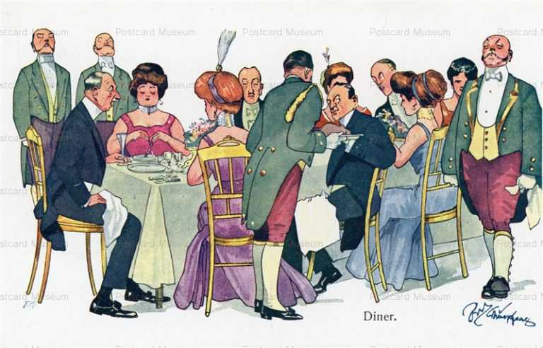 fc230-AS High Society Having Diner