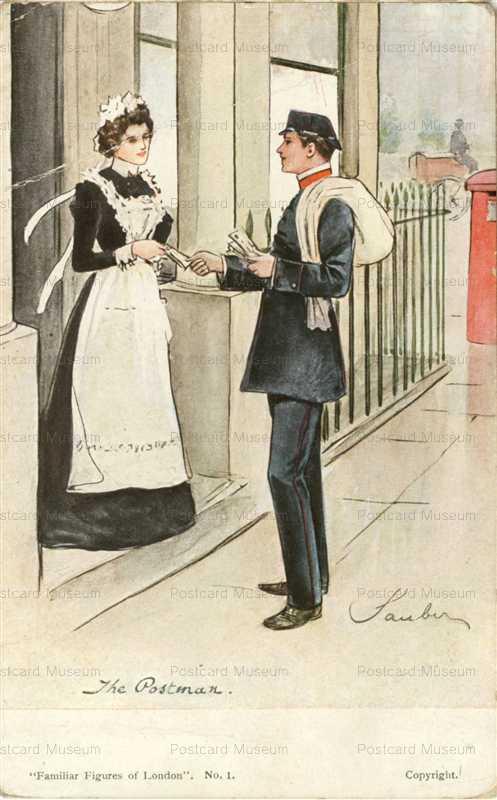 fc335-the Postman Familiar Figures of London Peacock Series