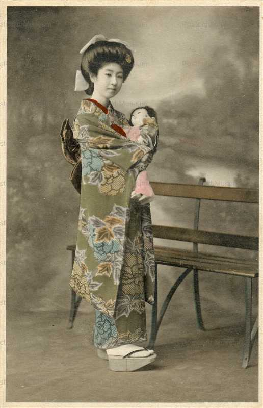 fi002-市松人形 束髪美人