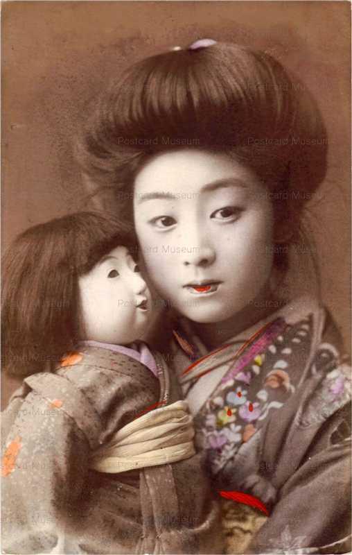 fi010-市松人形 美人束髪