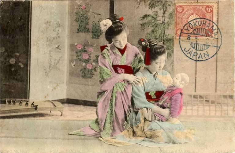 fi016-市松人形 少女二人