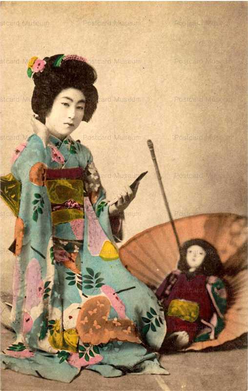 fi019-市松人形 傘