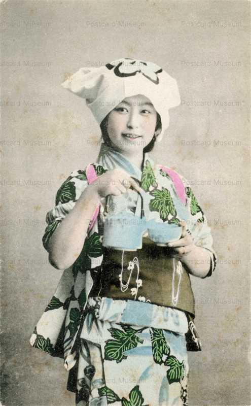 fk014-茶を注ぐほうかむり美人