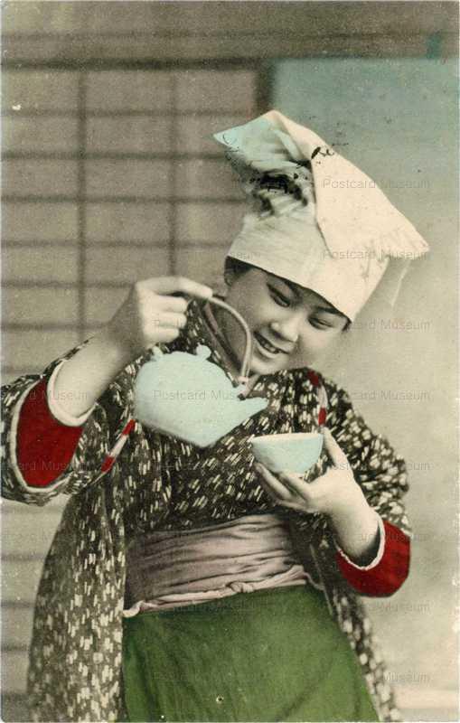 fk015-茶を注ぐほうかむり