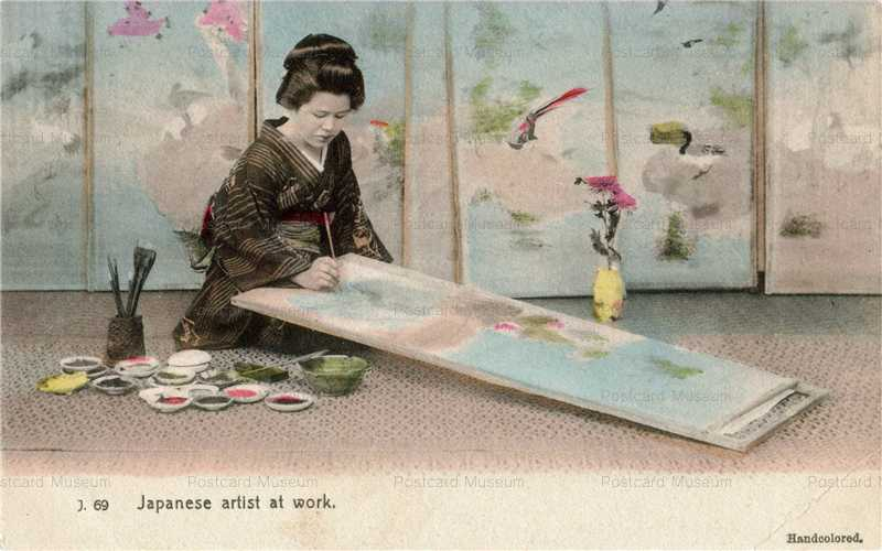 fk370-絵を描く女性
