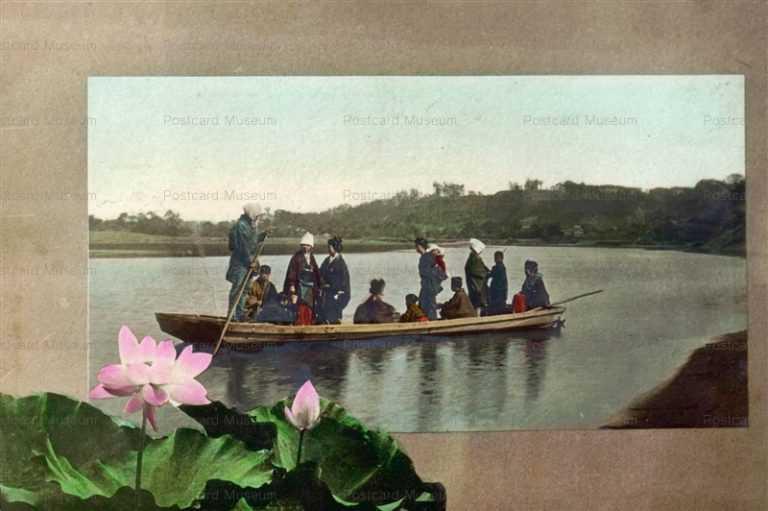 fk510-渡し舟と蓮