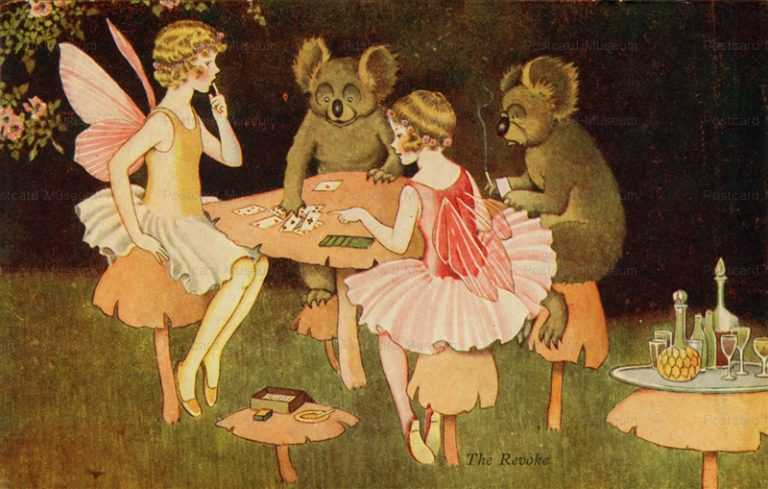 fo157-Ida Rentoul Outhwaite the Revoke Koalas Playing Cards