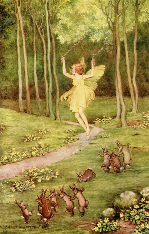 fo165-Ida Rentoul Outhwaite She is a Spring Fairy