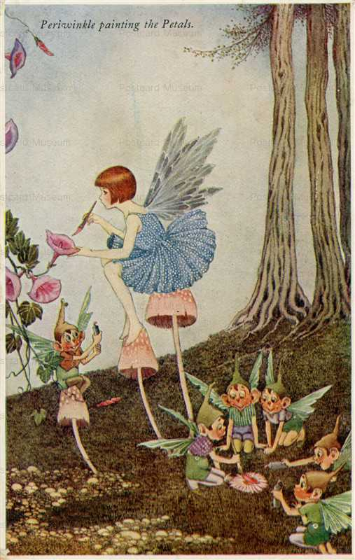 fo190-Ida Rentoul Outhwaite Periwinkle Painting the Petals