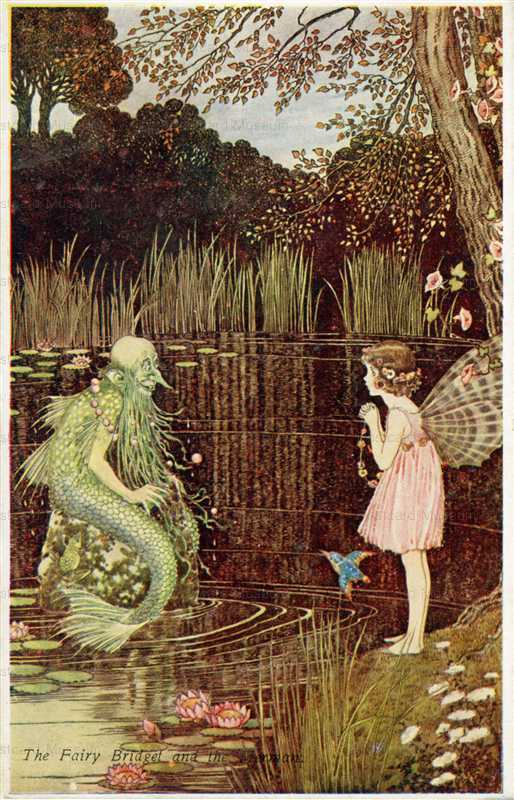 fo200-Ida Rentoul Outhwaite the Fairy Bridget and the Merman from the Little Fairy Sister