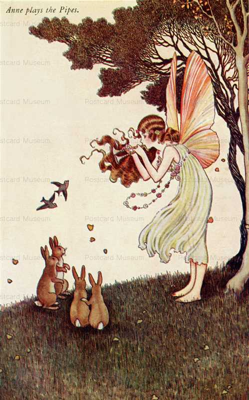 fo235-Ida Rentoul Outhwaite Anne plays the Pipes