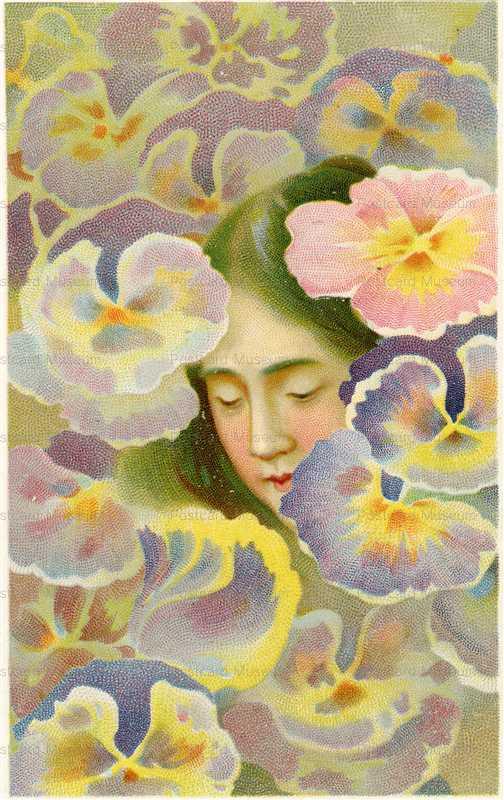 hb160-本多穆堂 花と女性