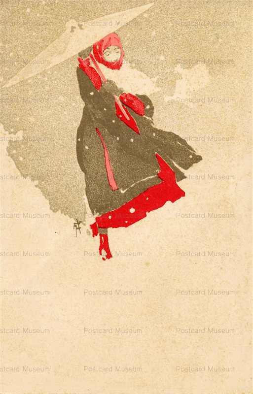 in015-一條成美 雪傘の女性