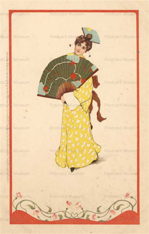 jp022-Japonisme Woman Fan