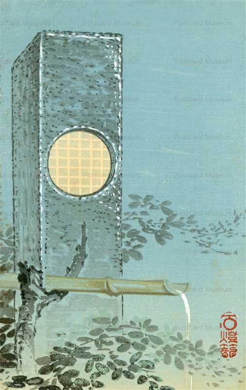 kfg952-月石燈籠 趣味古光