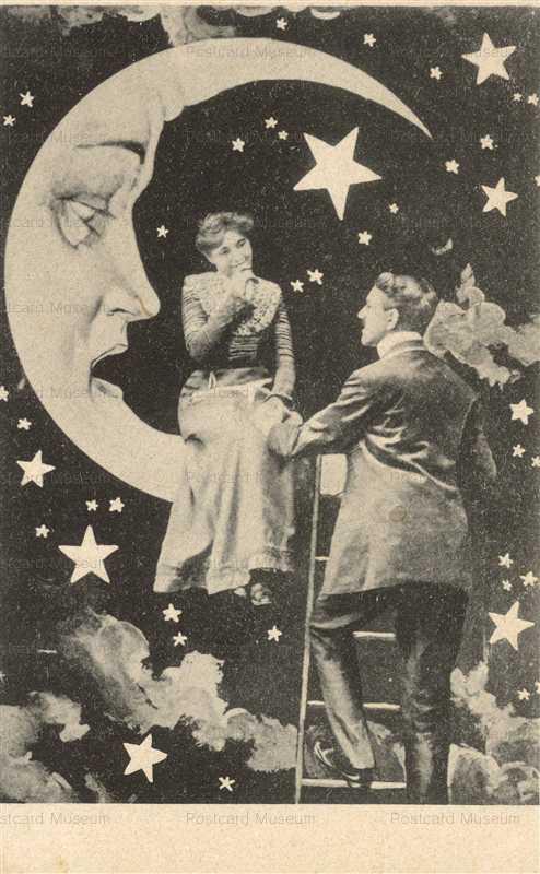 mn010-Surrealist Moon Face Romance