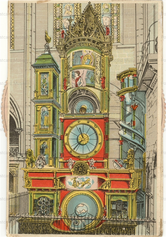 mx150-l´horloge astronomique de la Cathedrale de Strasbourg (edition Ch. BERGERET)