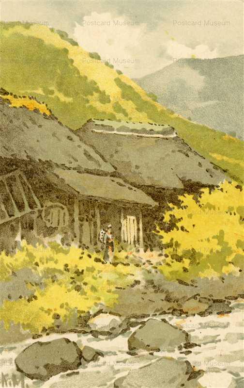 myk015-三宅克己 河と女性 | 絵...