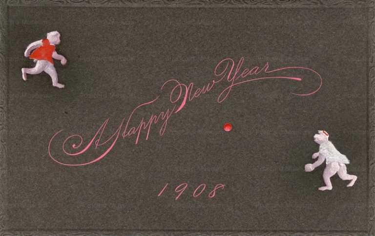 ng080-猿の野球 Happy New Year1908