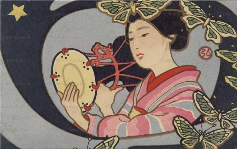 nh030-中澤弘光 鼓を打つ舞妓
