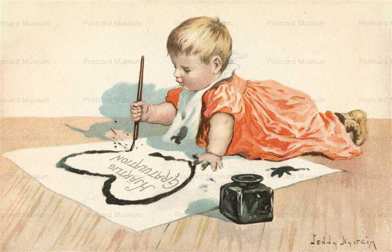 qb030-Painting Baby