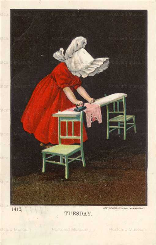qb040-Sunbonnet Girl Iron Tuesday