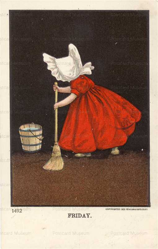 qb045-Sunbonnet Girl Clean Friday