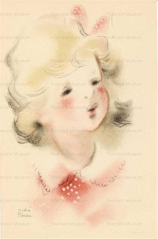 qb525-Andre Penac Postcard Superb Pretty Girl