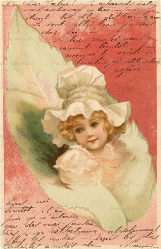 qb530-Bonnet Girl in Leaf