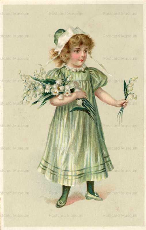 qb570-Little Girl in Green