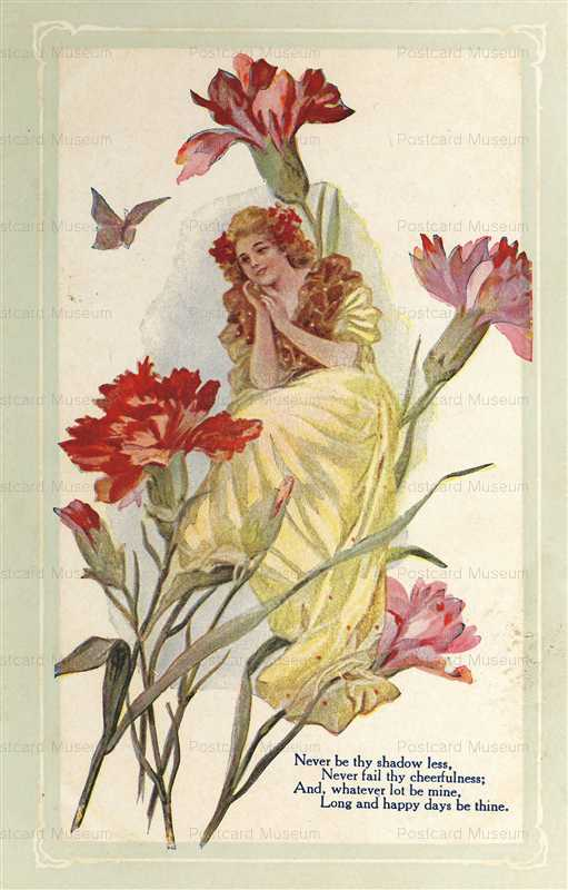 qb600-Girl with Carnations